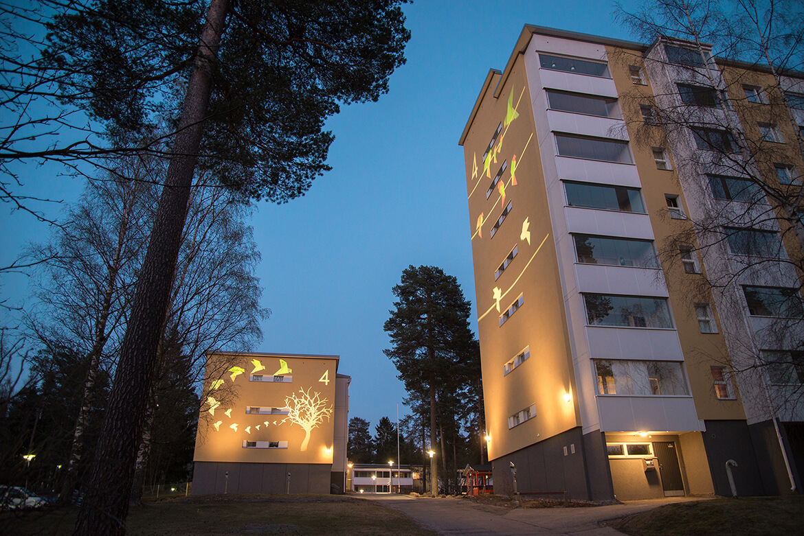 Lighting of Virontörmä residential area