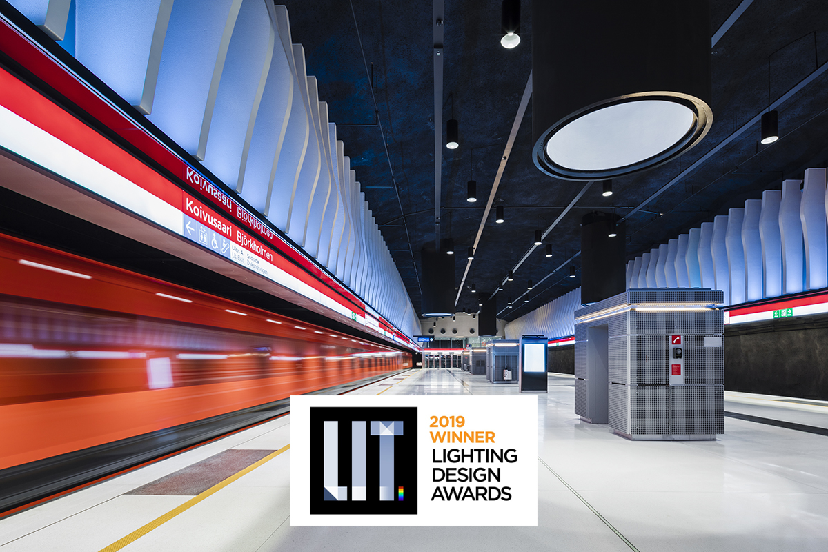 LIT Lighting design awards 2019 double win: Helsinki metro stations and National Museum of Finland