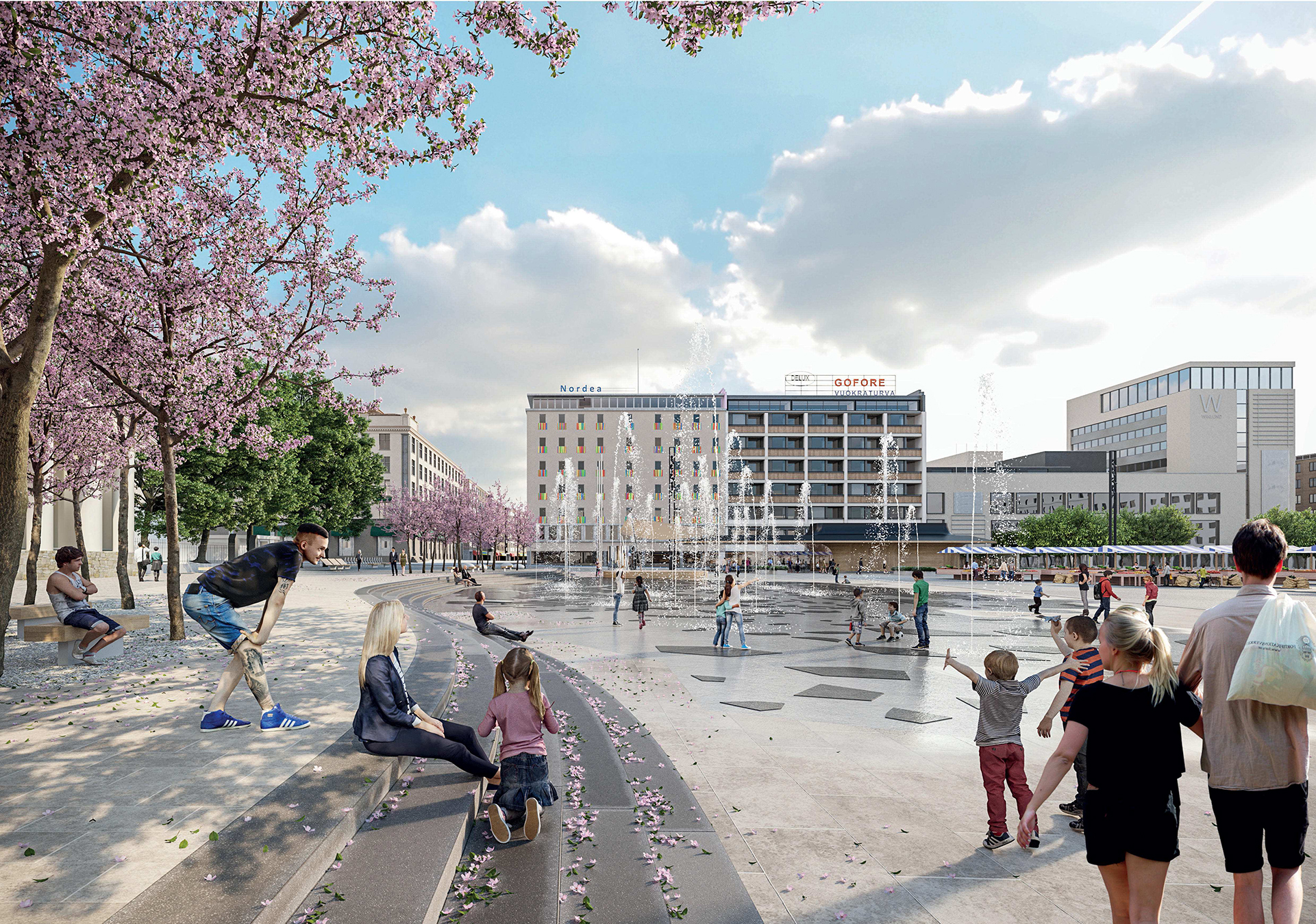 Sigge-Loci-Valoa -group is the winner of Turku Market Square design competition